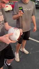Friends Surprise Guy With Ball Signed by Favorite Baseball Players for Birthday