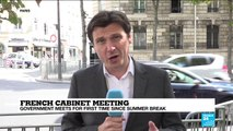 """French cabinet meeting: Macron """"needs to reset his relationship with the public"""
