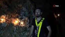 TV programcısı mağarada mahsur kaldı; yaşadıklarını an be an kameraya çekti