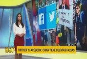 Twitter y Facebook acusan a China de infiltrarse para boicotear protestas