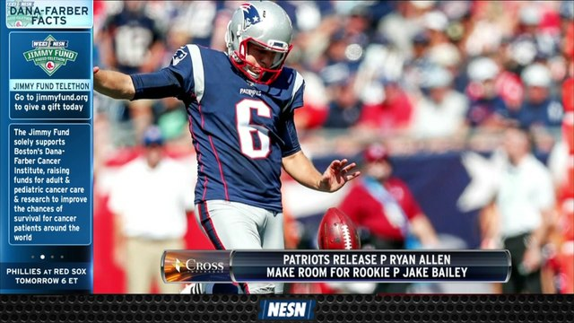 Patriots Cut Ryan Allen; Players React