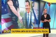 EEUU: nueva ley en California restringe uso de la fuerza policial