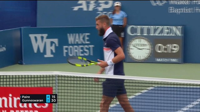 VIRAL: Tennis: Paire loses his grip at Winston-Salem