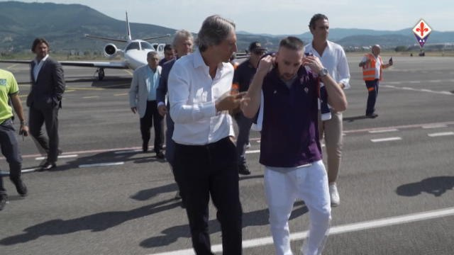 Ribery's first day at Fiorentina