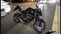 Carro e moto batem na Avenida Tancredo Neves e mulher fica ferida