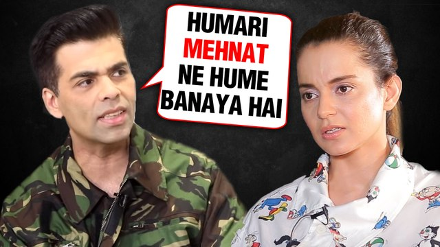 Karan Johar's FITTING Reply To Kangana Ranaut On NEPOTISM   WATCH