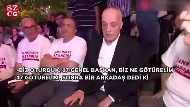 Tank Palet eylemine katılan Türk-İş Başkanı Atalay'a vatandaştan tepki: Sen hiç konuşma
