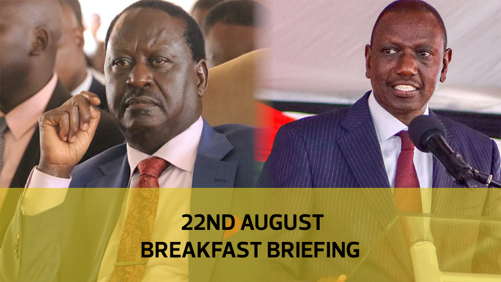 Kibra - Raila vs Ruto | Kitany-Linturi divorce war | Abortion nurse jailed: Your Breakfast Briefing