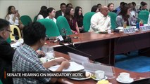 Sen. Bato Dela Rosa's heated exchange with a student group leader at Senate hearing