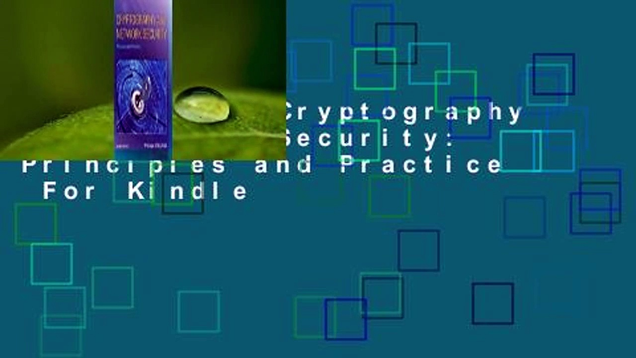 Full E-book Cryptography and Network Security: Principles and Practice  For Kindle