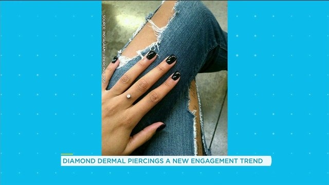 People are getting this diamond piercing instead of an engagement ring