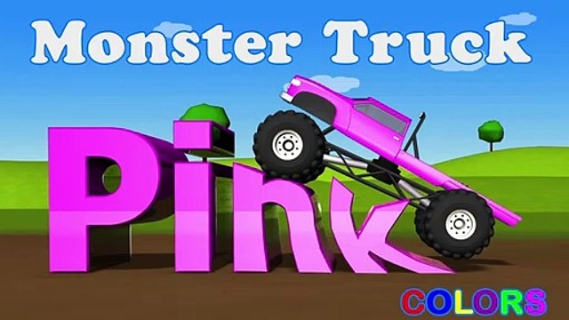 Learning Kids - Children lesson -Color Lessons For Kids With Monster Trucks - Learning Kids - Children Education - Pink Color - Monster Trucks - Learning Kids - Children Education -===)(