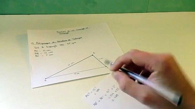 Montrer qu'un triangle est rectangle à l'aide de la médiane -===)(