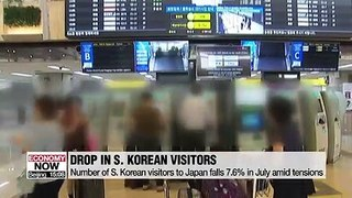 Number of S. Korean visitors to Japan falls 7.6% in July amid tensions and is expected to get worse