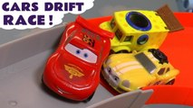 Hot Wheels Drift Racing Toy Story Challenge with Disney Pixar Cars 3 Lightning McQueen vs Marvel Avengers 4 and DC Comics Superheroes Full Episode English