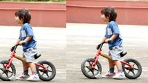 Taimur Ali Khan enjoys bicycle ride in latest pic | FilmiBeat