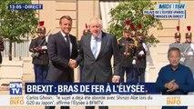 Le Premier ministre britannique, Boris Johnson, vient d'arriver à l'Élysée