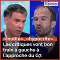 «Inutile», «hypocrite»... Les critiques vont bon train à gauche à l'approche du G7