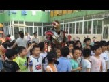 Trending on Chinese social media: 'Iron Man' stops by a kindergarten