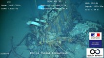 Images de l'épave du sous-marin la Minerve, disparu au large de Toulon