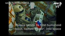Russia sends 'Fedor' its first humanoid robot into space