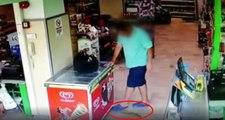 Marketin ortasına dışkısını yapan adam böyle görüntülendi