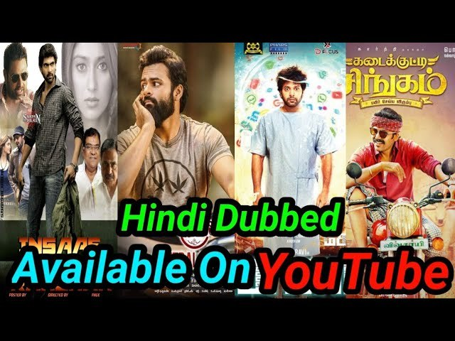 Top 5 Big New South Hindi Dubbed Movies Available On YouTube.