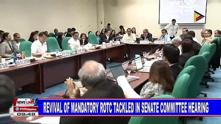Revival of mandatory ROTC tackled in Senate Committee hearing