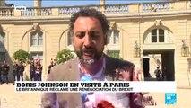 En visite à Paris, Boris Johnson réclame une renégociation du Brexit