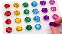 How To Make Colors Clay Slime Mini Dot DIY Kinetic Sand Milk Bottle