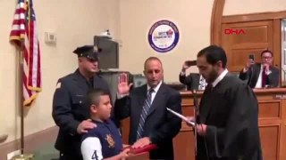 New Jersey'e ikinci Müslüman emniyet müdürü... Filistin kökenli müdür Kuran üzerine yemin etti.