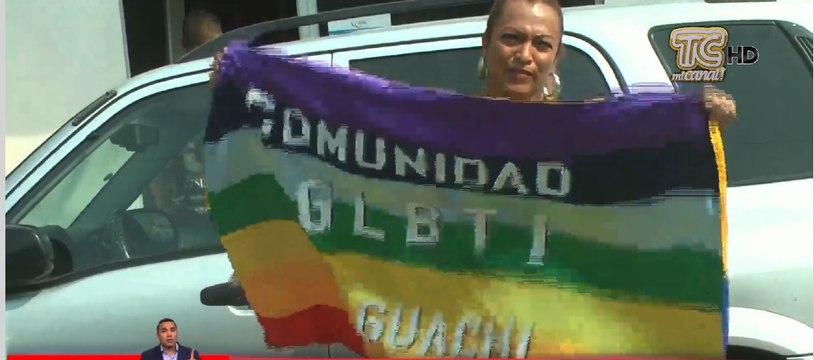Comunidad GLBTI del cantón Yaguachi, protesta por la agresión de uno de sus miembros
