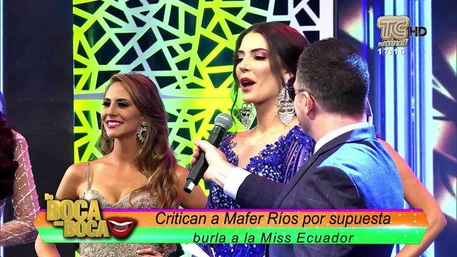 Mafer Ríos en polémica con Miss Ecuador ¿Se burló de ella?