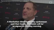 Harvey Weinstein To Be Arraigned On Monday