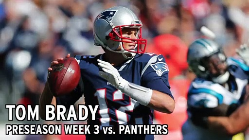 Tom Brady Stats From Patriots vs. Panthers Preseason Week 3