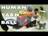 Human Yarn Ball - The Human Cat Toy Experiment