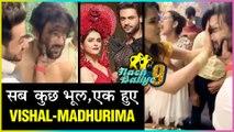 Madhurima Tuli Behaves Normal, Puts Cake On Ex Vishal Aditya Singh | Nach Baliye 9
