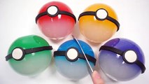 214.DIY How To Make Colors Pokemon Go Ball Gummy Jelly and Learn Colors Chocolate Clay Slime