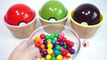 246.Learn Colors Pokemon Go Balls Bubble Gum Surprise Toys For Children