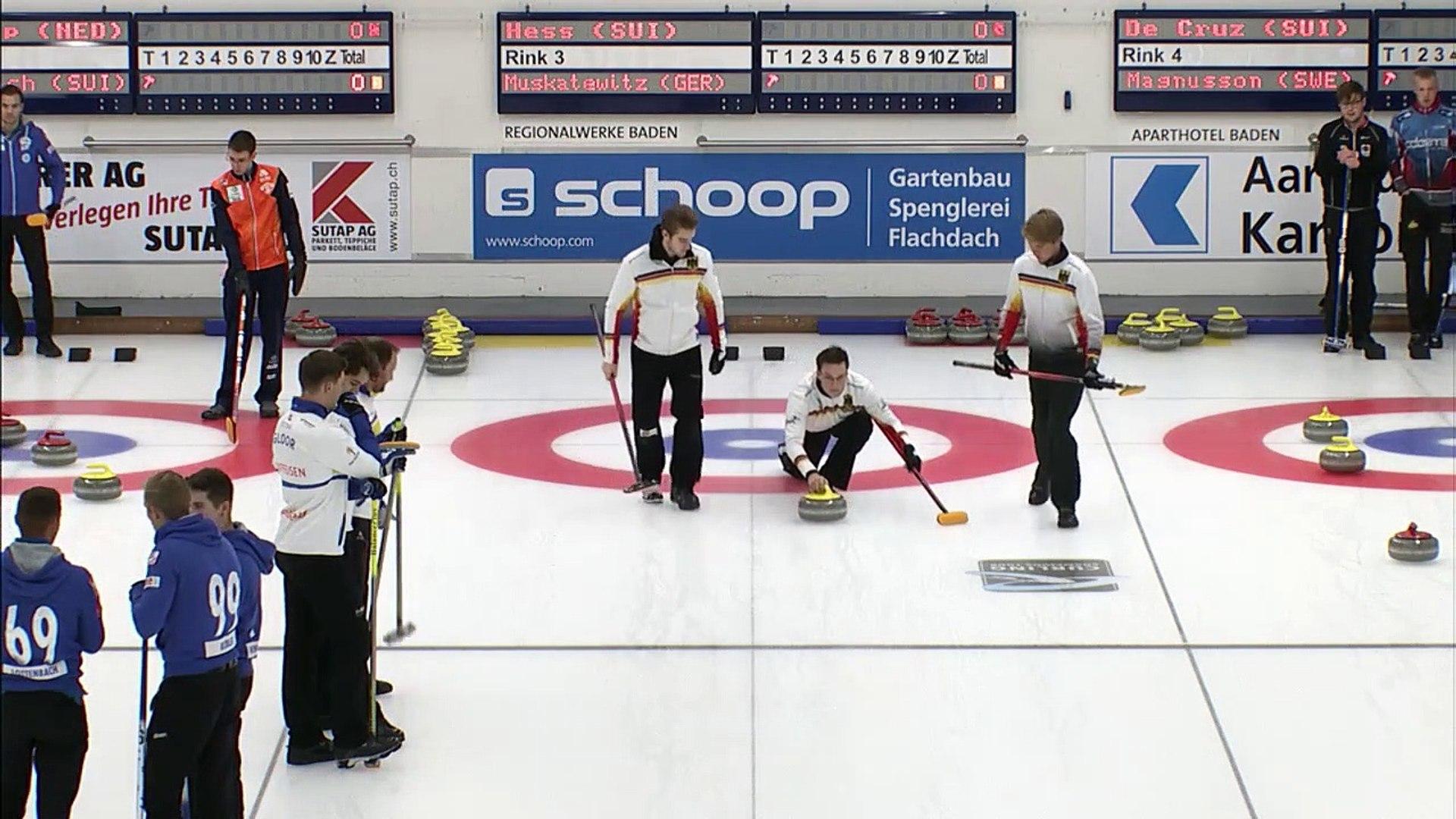 World Curling Tour, Baden Masters 2019, Team Hess (SUI) vs Team Muskatewitz (GER)