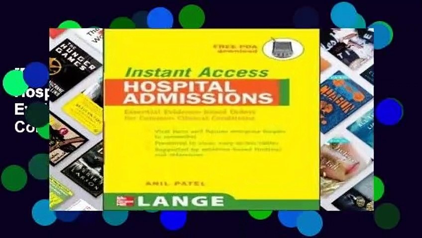 [Doc] LANGE Instant Access Hospital Admissions: Essential Evidence-based Orders for Common