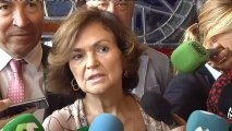 "Carmen Calvo ironiza: ""Milito en el mismo partido que Salvini""."