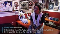 Skin in the game: Hong Kong protesters get inked