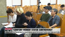 Aichi Triennale festival's art director reiterates argument that removal of 'comfort women' statue was for safety