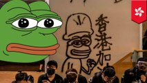 Pepe the Frog being used asresistance symbol in Hong Kong