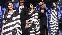 Lakme Fashion Week: Athiya Shetty's Monochrome Saree Is A Must In Wardrobe