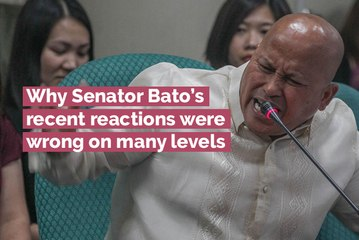 Why Senator Bato's recent reactions were wrong on many levels