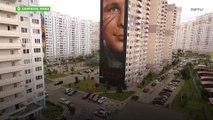 Massive Yuri Gagarin Mural unveiled in Odintsovo