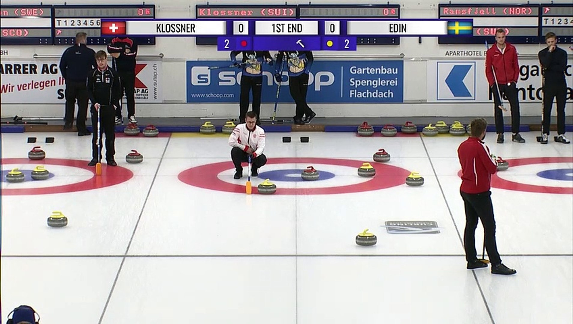 World Curling Tour, Baden Masters 2019, Team Klossner (SUI) vs Team Edin (SWE)
