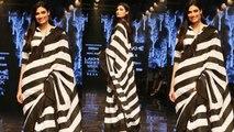 Athiya Shetty stun in saree at Lakme Fashion Week 2019; Watch video | FilmiBeat